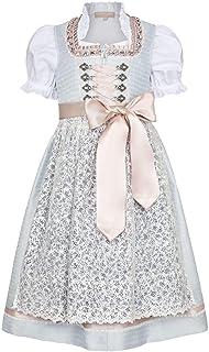 Krüger KIDS Mädchen Kinder- Jugend- Dirndl Kommunion Blumenmädchen Einschulung mit Bluse, 81-HELLBLAU, 92