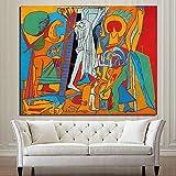 KWzEQ Célèbre Peintre crucifié Toile Affiche Murale Moderne Artiste Mural décoration de la Maison,Peinture sans Cadre,40x50cm