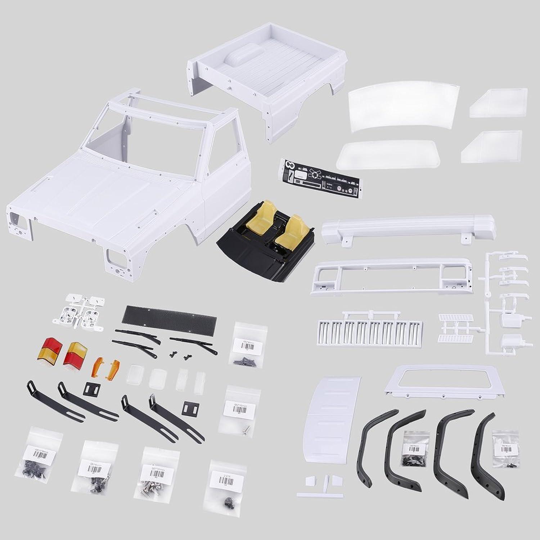 Oyamihin AX-313B 12,3 Pollici   313 Millimetri Pickup interasse Corpo Shell Kit Fai da Te per 1 10 RC Truck Crawler Axial SCX10 e SCX10 II 90046 90047