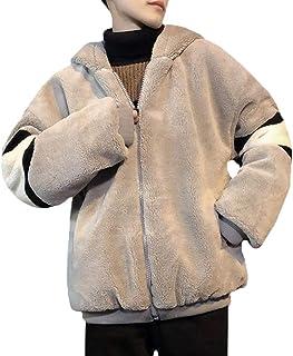 [ジンニュウ] フリースジャケット メンズ ボアフリース 防風 ウィンドストップ ブルゾン ジャケット カジュアル アウトドア お洒落 暖かい 防寒 もこもこ
