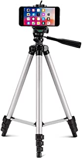 Tripod-3110 Portable Adjustable Aluminum Lightweight Camera Stand with Three-Dimensional Head & Quick Release Plate and Mobile Phones Tripod (Black, Supports Up to 1000 g)
