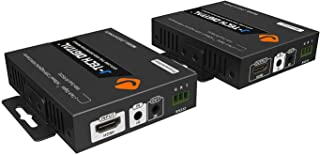 J-Tech Digital HDBaseT 4K@60HZ HDMI Extender 4K@60HZ 4:2:0, Single Cable CAT6 up to 230ft @1080P/131ft@4K, Support HDCP2.2, Deep Color, Dual IR, DTS/Dolby Digital Pass Through, CEC, RS232