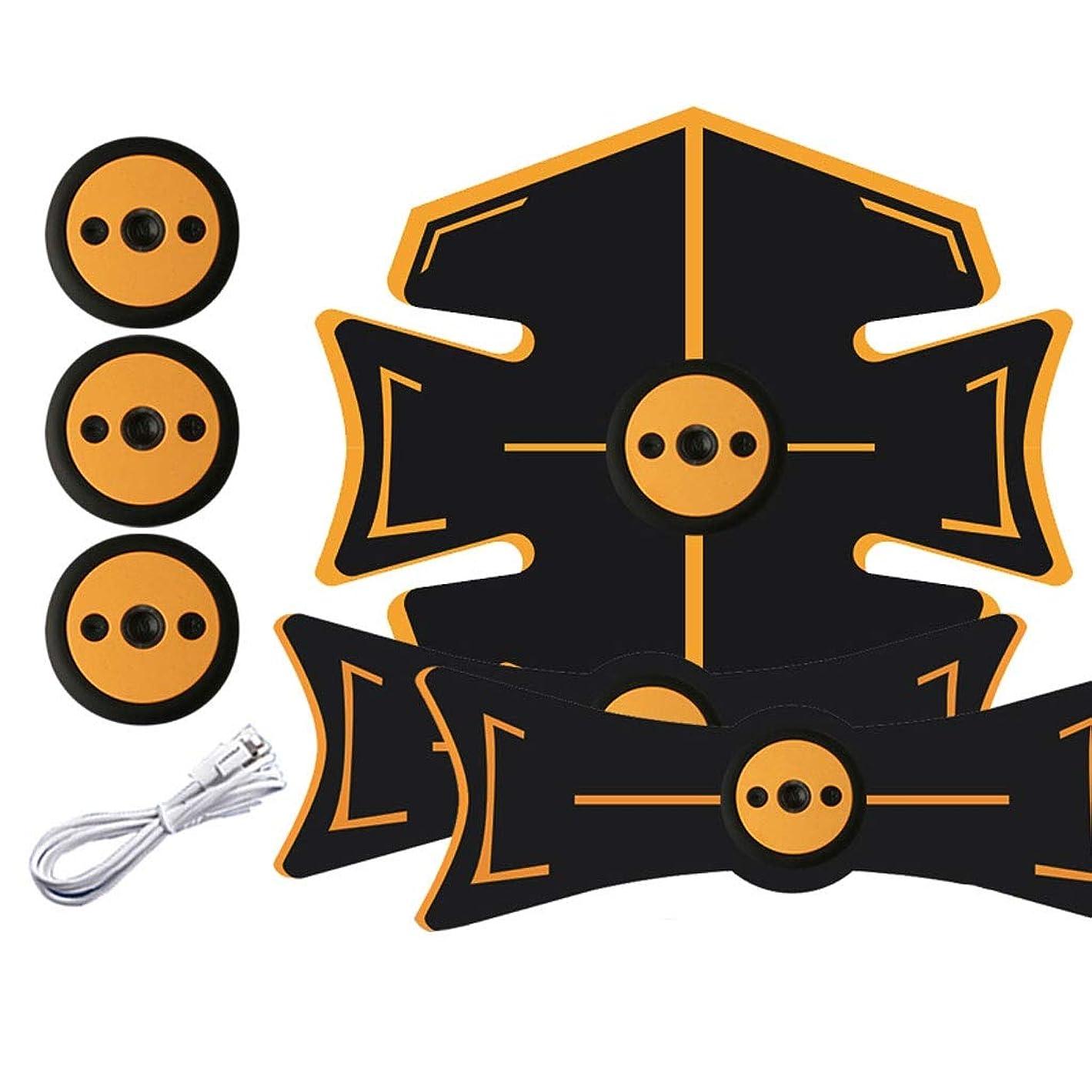 財布トライアスロン幸運なことに腹部刺激装置、腹部調色ベルト、マッスルトナー、ポータブルマッスルトレーナー、ボディマッスルフィットネストレーナー9モード&15レベル腹部用シンプル操作