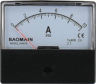 Baomain Ammeter DH-670 DC 0-10A Rectangular Ampere Needle Panel Meter Gauge Amperemeter