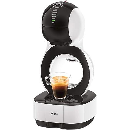 Krups Nescafé Dolce Gusto Lumio blanche Machine à café Ultra compact, 1500 W, Cafetière a dosette, Multi-boissons, Design, Porte capsule exclusif, Réservoir 1L, Pression 15 bars, Mode éco KP130110
