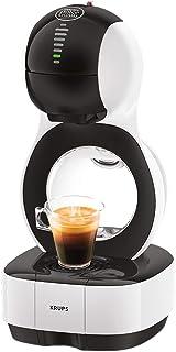 Krups Lumio KP1301- Cafetera de cápsulas automática Dolce Gusto Nestlé de 15 bares de presión, depósito de 1 L para bebidas calientes y frías, 1600 W, color blanco