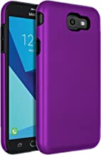 SENON Slim-fit Shockproof Anti-Scratch Anti-Fingerprint Protective Case Cover for Samsung Galaxy J7 V 2017,Galaxy J7 2017,Galaxy J7 Sky Pro,Galaxy J7 Perx,Galaxy J7 2017(AT&T),Purple