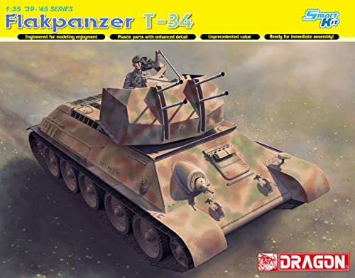 Dragon D6599 FLAKPANZER T-34R KIT 1 35 MODELLINO Model Compatible avec