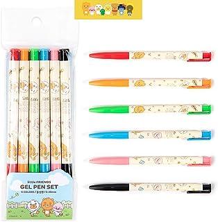 Kakao Cute Little Friends Soft Click Gel Pen 6 Colors Set : Park Theme
