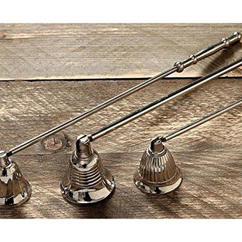 Kerzenlöscher Dochtlöscher mit beweglicher Glocke aus Aluminium Gesamtlänge ca. 26 cm