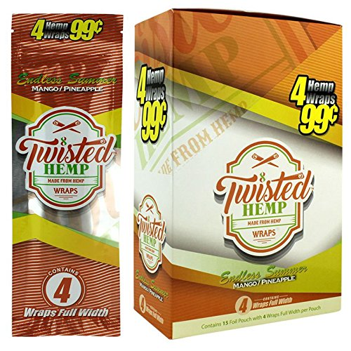 15 pk Twistes Hemp Wrap Endless Summer 4 leaf per pk