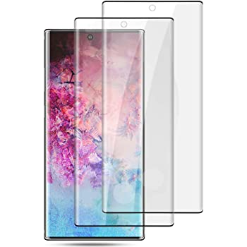 Galaxy Note 10 Tempered Glass Screen Protector,Full Coverage [2 Pack] [Ultrasonic Fingerprint Compatible] [3D Curved] [Anti-Scratch] [HD Clear] Screen Protector for Samsung Galaxy Note 10