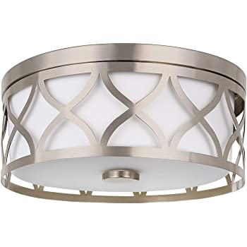 Home Decorators Collection 14 In Brushed Nickel Led Flushmount Amazon Com