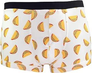 Viva México Super Soft Breathable Boxer Brief Trunk, Fun Print Men's Underwear :: Tacos