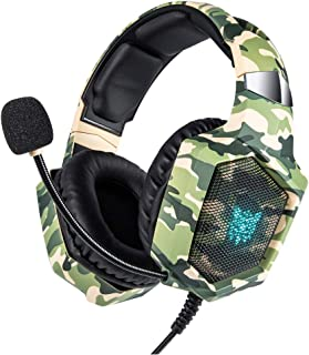 GZCRDZ K8 Stereo Gaming Headset for PS4 Xbox One, Over Ears Gaming Headphones with Noise Cancelling Microphone for Nintendo Switch Playstation 4 Laptop Smartphones and PC (Green)