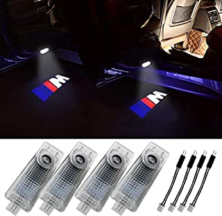 Grolish BMW Accessories Car Door LED Logo Lighting Projector Welcome Lights For BMW M (4-Pack)