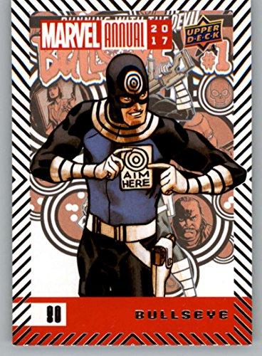 2018 Upper Deck Marvel Annual #80 Bullseye Marvel Trading Card Bullseye Superhero