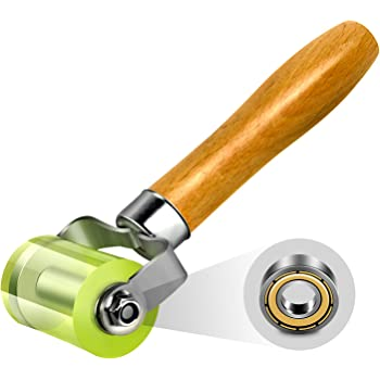 LUMITECO Bearings Equipped Automotive Car Audio Sound Deadening Application Wheel Roller, Heat Abatement Mat Wallpaper Application PU Smoothing Tool Seam Roller