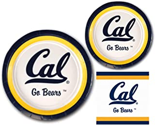 California Golden Bears Party Supplies - Bundle Includes Paper Plates and Napkins for 10 People