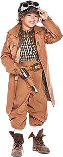 chiber Disfraces Disfraz de Viajero del Tiempo para Niño (Talla 10 (9-10 años))