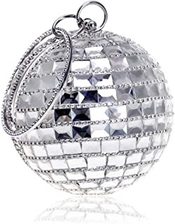 ZYWYB Evening Bags and Clutches for Women Crystal Clutch Beaded Rhinestone Purse Wedding Party Handbag (Color : E)
