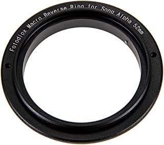 Fotodiox 52mm Filter Thread Macro Reverse Mount Adapter Ring for Sony Alpha A-Mount (and Minolta AF) Mount SLR Camera Body