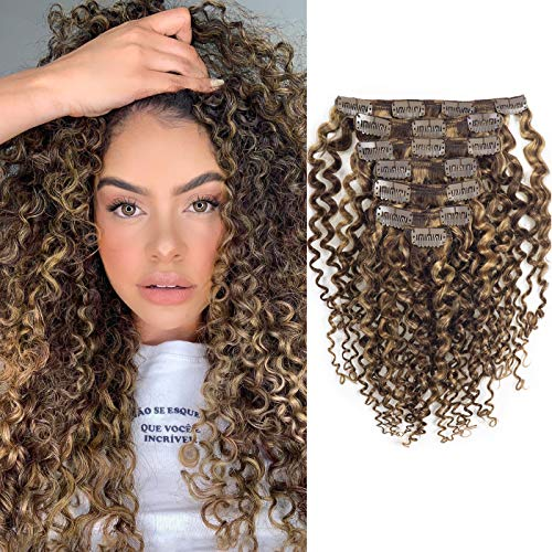Caliee Curly Clip in Hair Extension 3B 3C Jerry...
