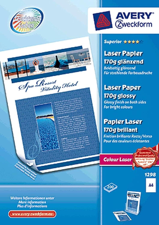 Avery Laser-Fotopapier 1298 1298 1298 VE200 B008UOE4C8 | Verschiedene Arten und Stile  | Am praktischsten  | Gute Qualität  e6a3e9