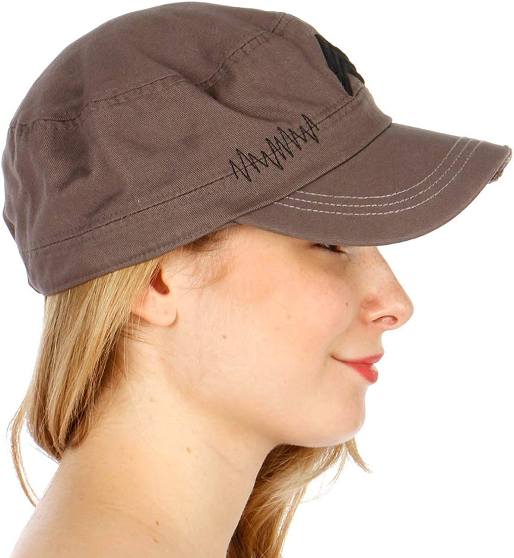 SERENITA Cotton Cap Cadet hat for Women, Army Military Inspired, Emblem Soldier