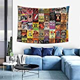 Rock Band Collage Tapestry Wall Hanging Tapestries As Wall Blanket Wall Art And Room Decor For Bedroom Living Room Dorm 60x40 Inch