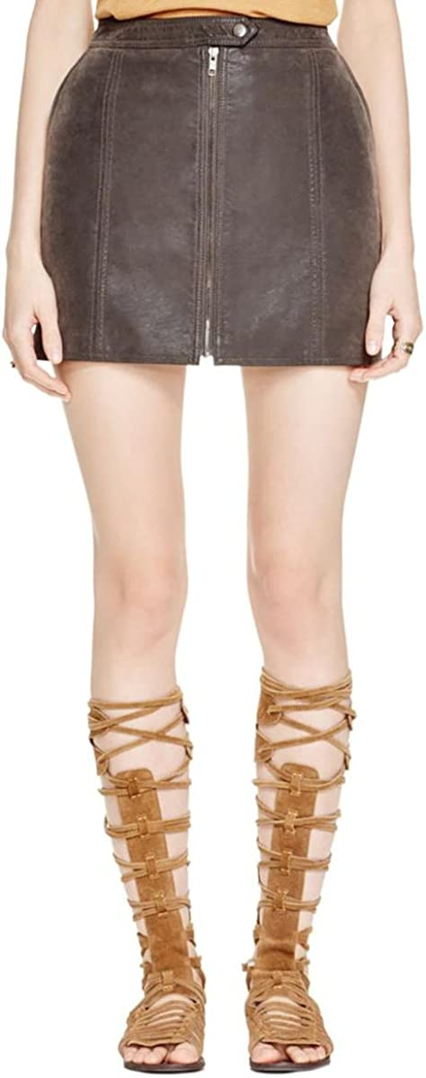 Free People Women's Get Into The Groove Skirt Concrete 0
