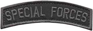 LEGEEON Special Forces SF Tab Badge SOF Blackout Subdued Green Berets US Army Tactical Morale Fastener Patch