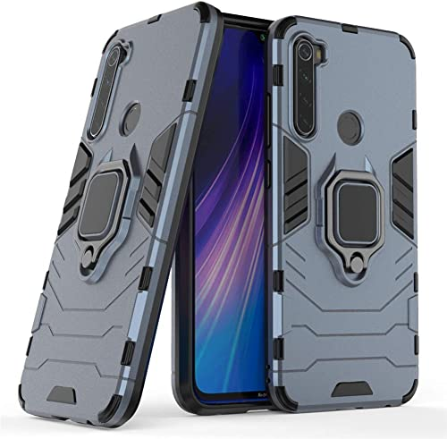Mobyro Defender Rugged Hybrid Armour Kickstand D5 Ironman Hard Back Cover Case with Ring Holder Stand for Realme 5i Blue