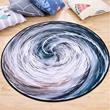 Round Rug Soft Crystal Velvet Study Sofa Coffee Table Pad Non-Slip Washable Machine Washable Carpet,3,60cm