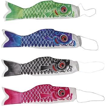 Japanische Windsack Karpfen Flagen Koi Koinobori Fischwind Flagge Rot 100cm