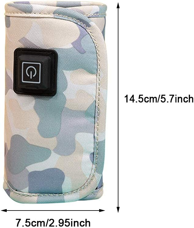 Keep Baby Milk Warm BPA-Free Baby Bottle Warmer,USB Travel Milk Heat Keeper,5V Portable Car Travel USB Baby Bottle Warmer
