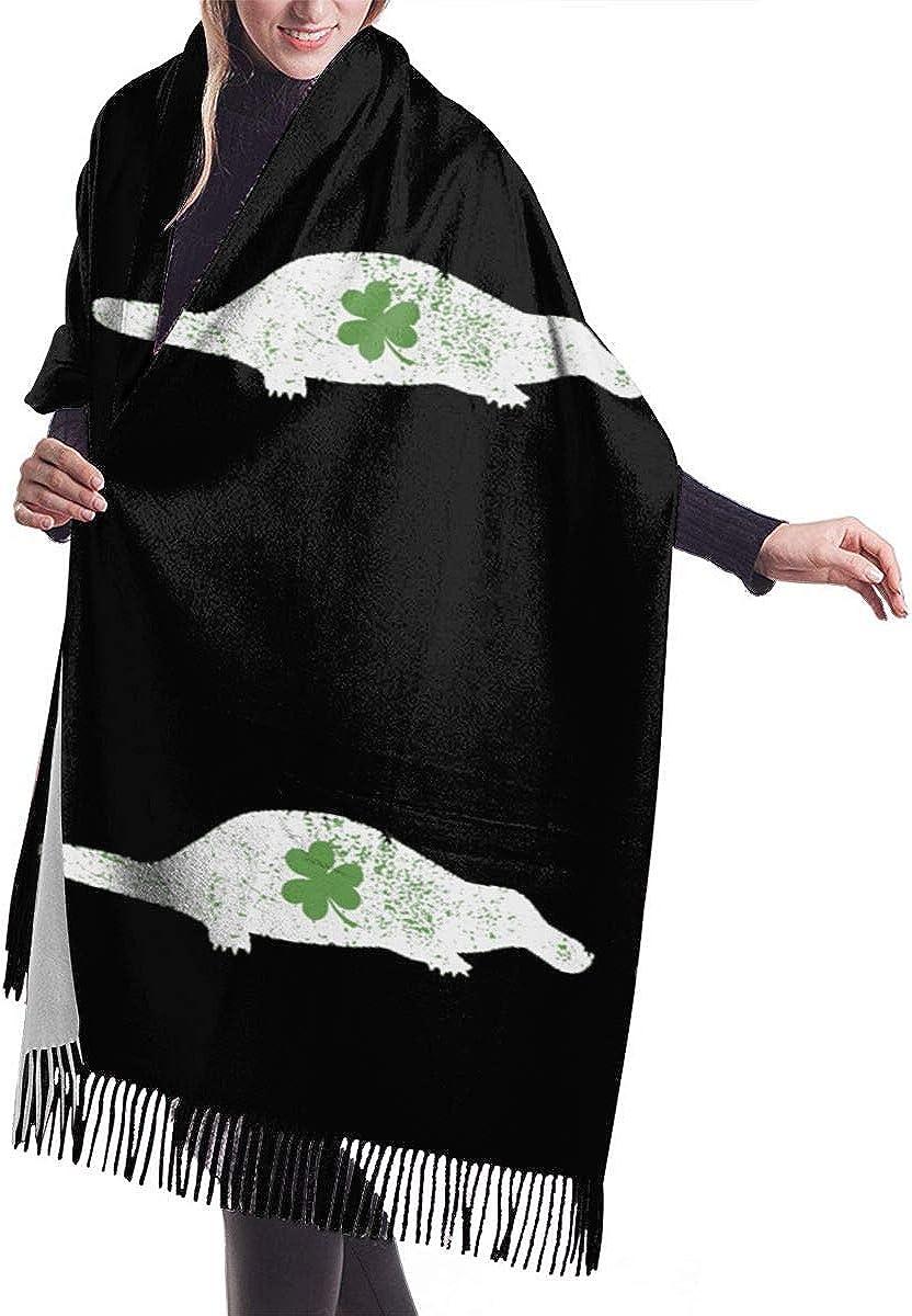 Shamrock Platypus Winter Scarf Cashmere Scarves Stylish Shawl Wraps Blanket