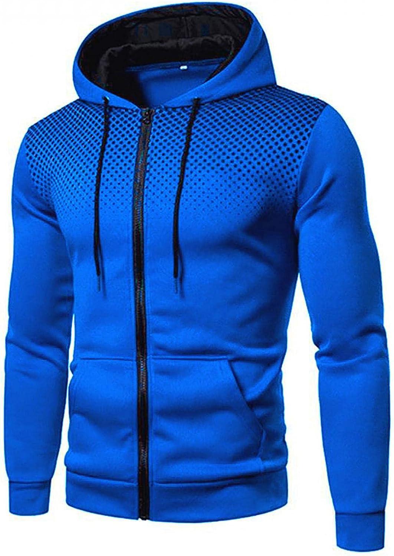LEIYAN Mens Sport Hoodie Jacket Zip Up Casual Long Sleeve Loose Fit Oversized Athletic Hooded Sweatshirts with Pockets