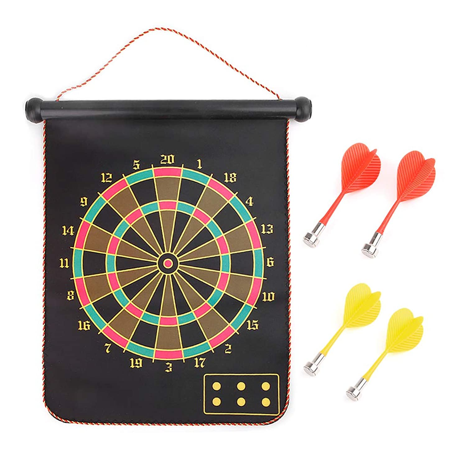 TwJim 12 15 17 Inches Magnetic Dart Board Indoor Game Hanging Wall Rubber Dartboard