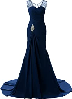 LILLY Women's Mermaid Prom Bridesmaid Dress Long Evening Formal Party Ball Gown