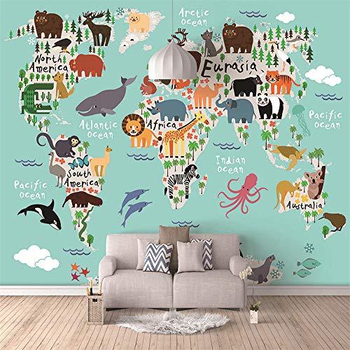 450x280cm HD Murals 3D Wallpaper Cartoon World map Custom Mural Non-Woven Wall Stickers Oil Painting Scenery Wall Paintings 3D Wall Mural Wallpaper Modern Art Decoration Print Poster