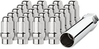 DPAccessories LCE3L2HCSCH04020 20 Chrome 1/2-20 Closed End ET Spline Tuner Lug Nuts for Aftermarket Wheels Wheel Lug Nut