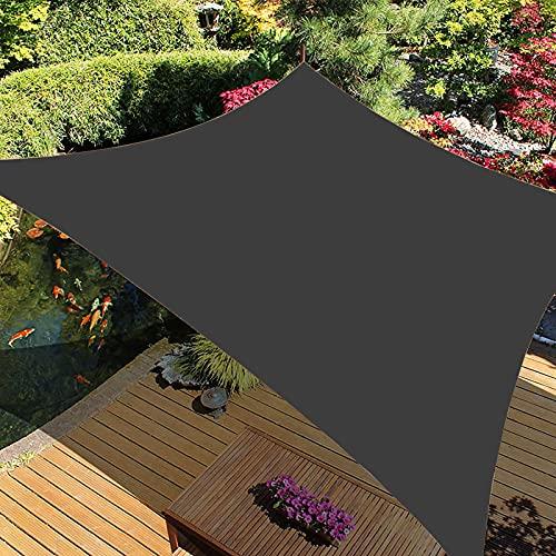 Velas De Sombra para Patio Toldo Rectangular Transpirable Impermeable, Poliéster Anti-Desgarro para Jardín, Patio, Exteriores, Pergola Decking,13,2 * 3m