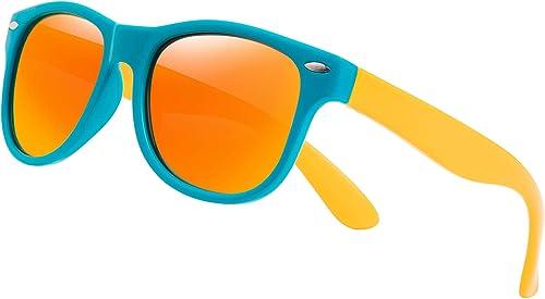 Boys Wrap UV400 Sunglasses Mirror Lenses Age 5-8 Years 3 Striking Colours