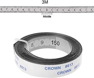 luosh Rostfritt stål geringsstång mått självhäftande metrisk linjal 1M-3M för T-skenfräs bordscirkelsåg träbearbetning ver...
