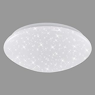 Briloner Leuchten - Luz de techo LED con decoración de luces de estrellas, color de luz blanco neutral, 28 cm, 15 W, 1500 lm, color blanco