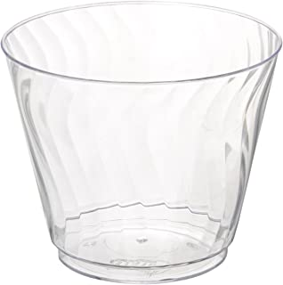 Chinet 100 CT 9 OZ Cut Crystal Plastic Cold Cups