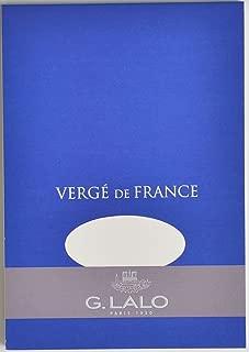 G. Lalo Verge De France Paper Pad, A5, 100g - White, 50 Sheets