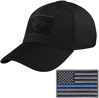 Condor Tactical Flex Cap with Thin Blue Line Morale Patch Bundle