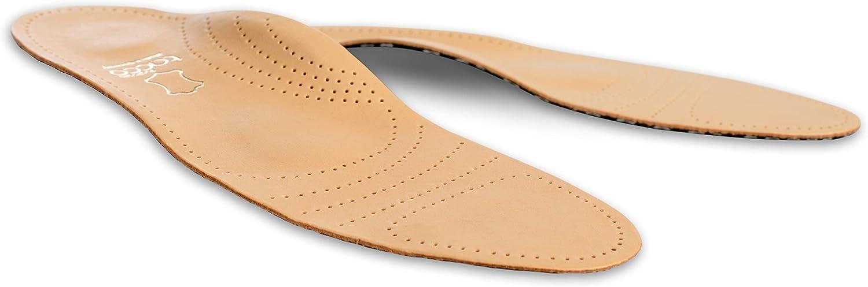Tacco Deluxe, Plantillas Zapatos Ortopédicos, Plantilla Cuero de Superior con Puente para Pies Planos Dolor Metatarsal, Fascitis Plantar, Todas las Tallas Mujeres y Hombres (42 EUR)